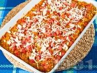 Паста Орзо с домати, шунка, зеленчуци и сирене Фета на фурна